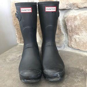 Matte Black Short Hunter Boots